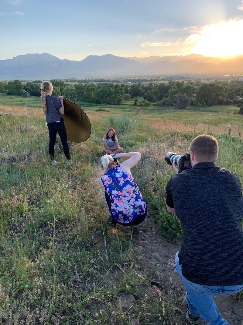 Behind the Scenes Denver Senior Photos